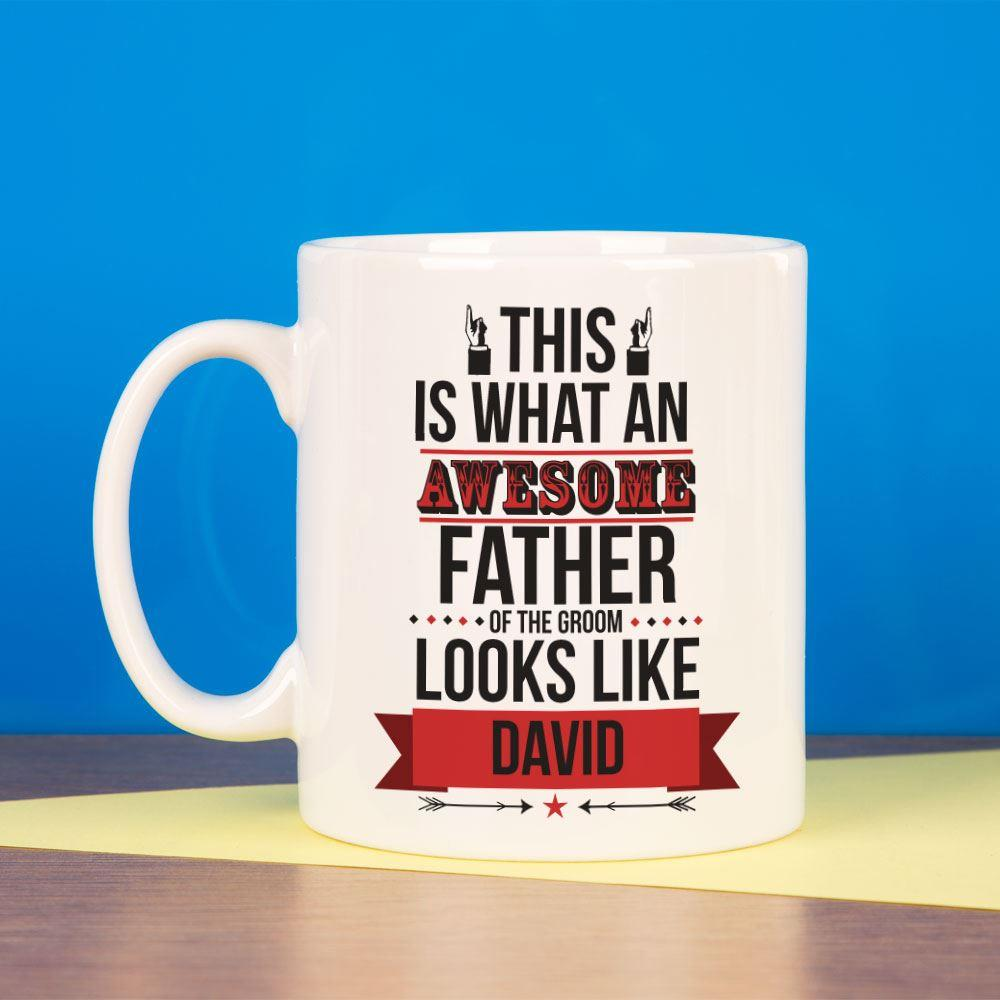 Personalised Awesome Father of the Groom Mug