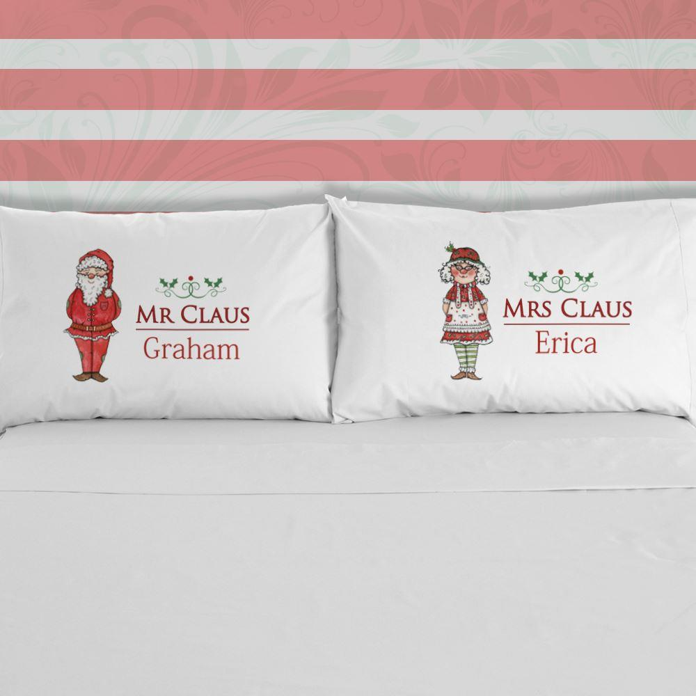 Mr & Mrs Claus Pillowcase Set