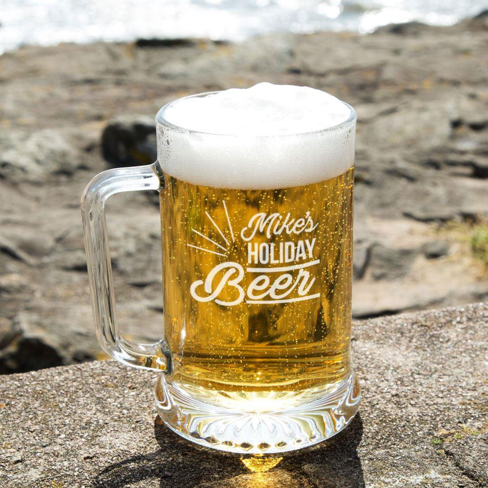 Holiday Beer Customised Glass Beer Tankard Special Offer
