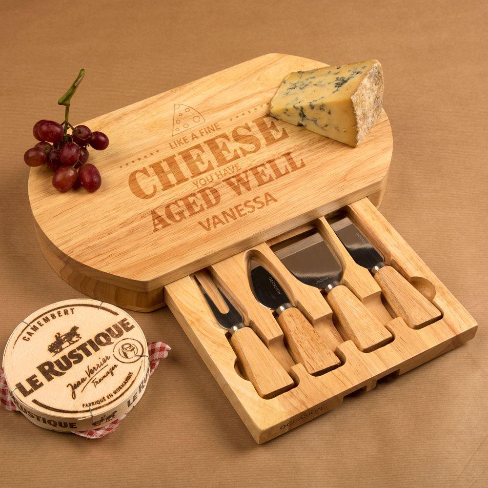 Engraved Aged Well Cheeseboard Set