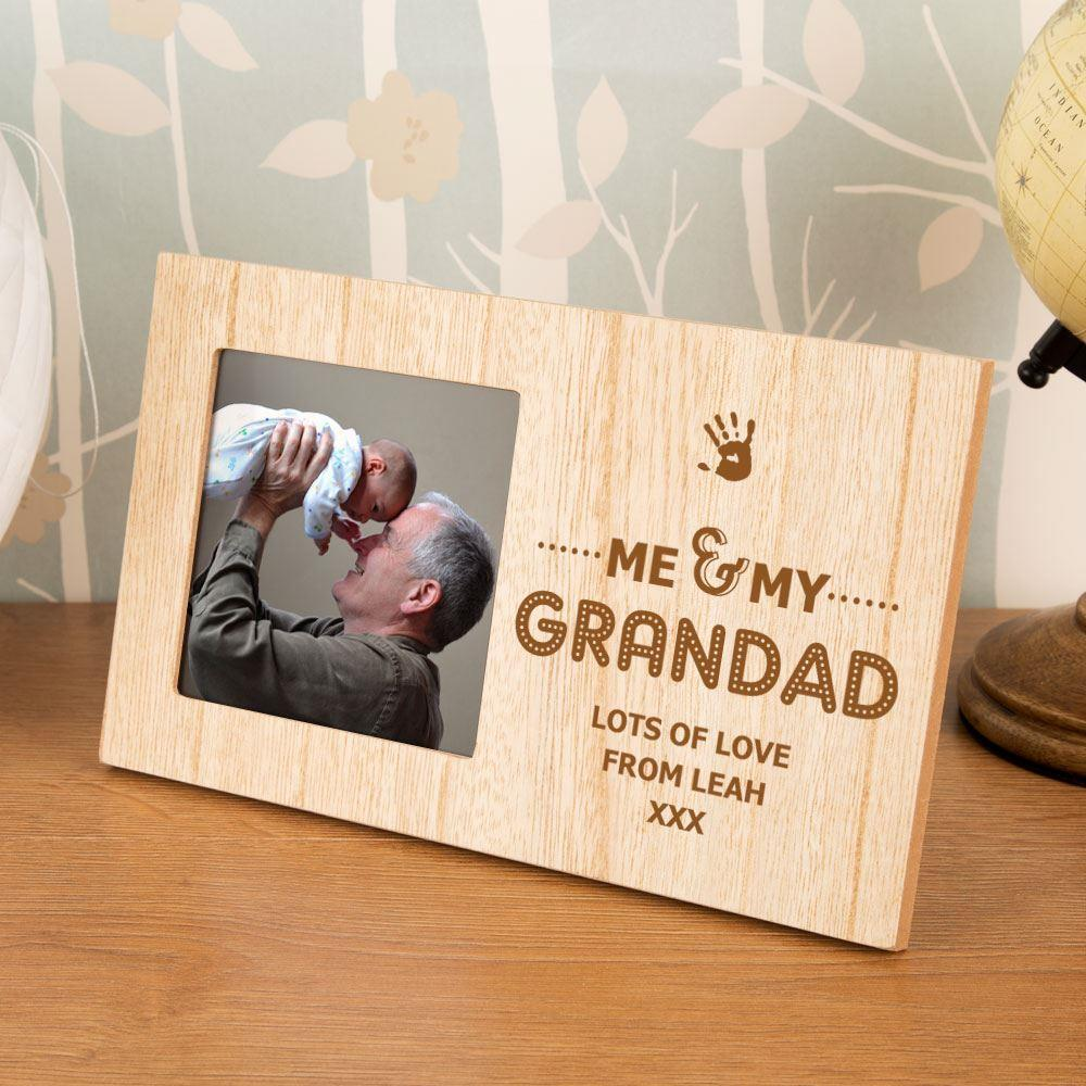 Personalised Me and My Grandad Wooden Photo Frame