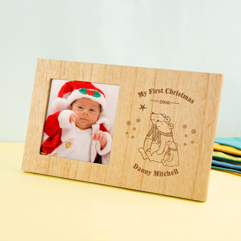 Personalised My 1st Christmas Polar Bear Photo Frame