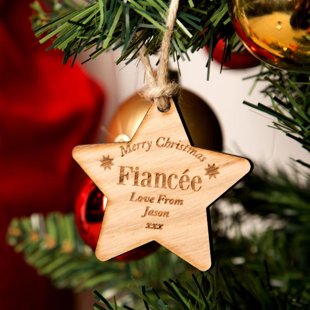 Fiancée Wooden Christmas Star