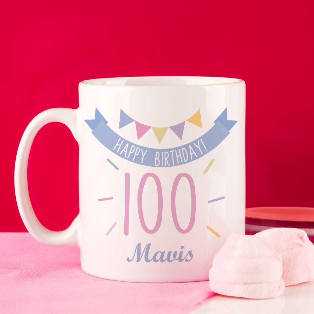 Image of 100th Birthday Bunting Mug For Her