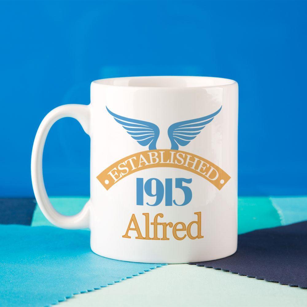 Image of 100th Birthday Established Since Mug For Him