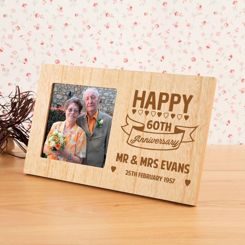 60th Wedding Anniversary Customised Photo Frame