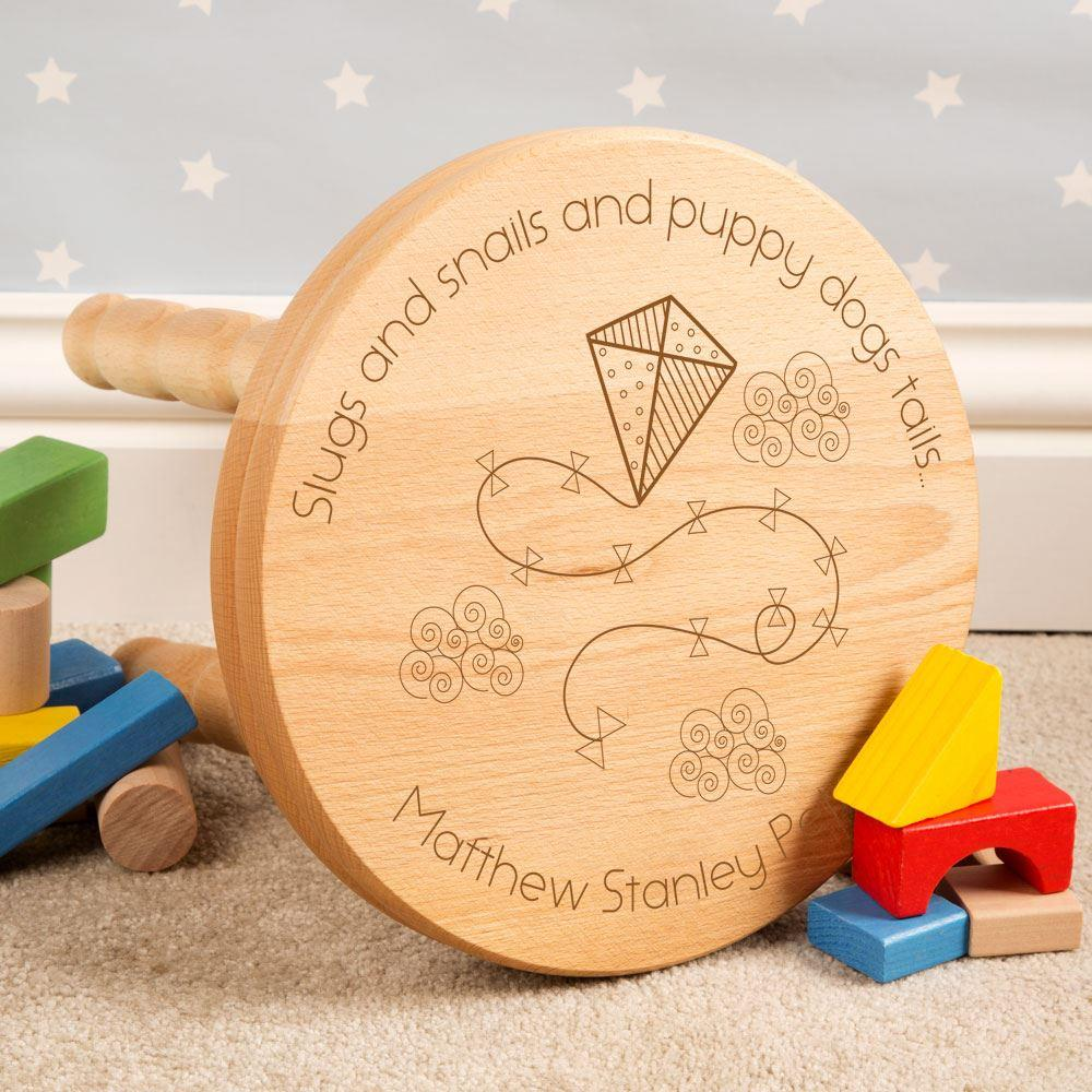 Personalised Boys Are Made of...Stool Engraved with Name
