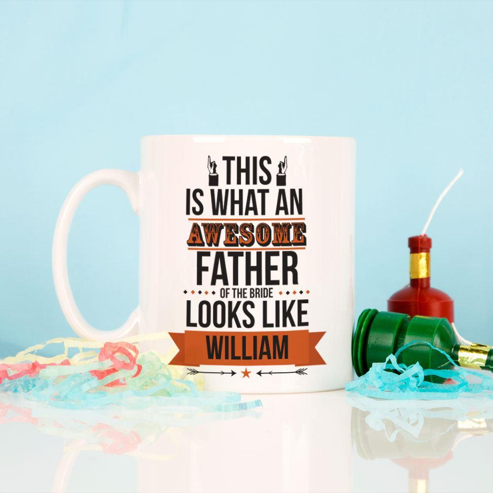 Personalised Awesome Father of the Bride Mug