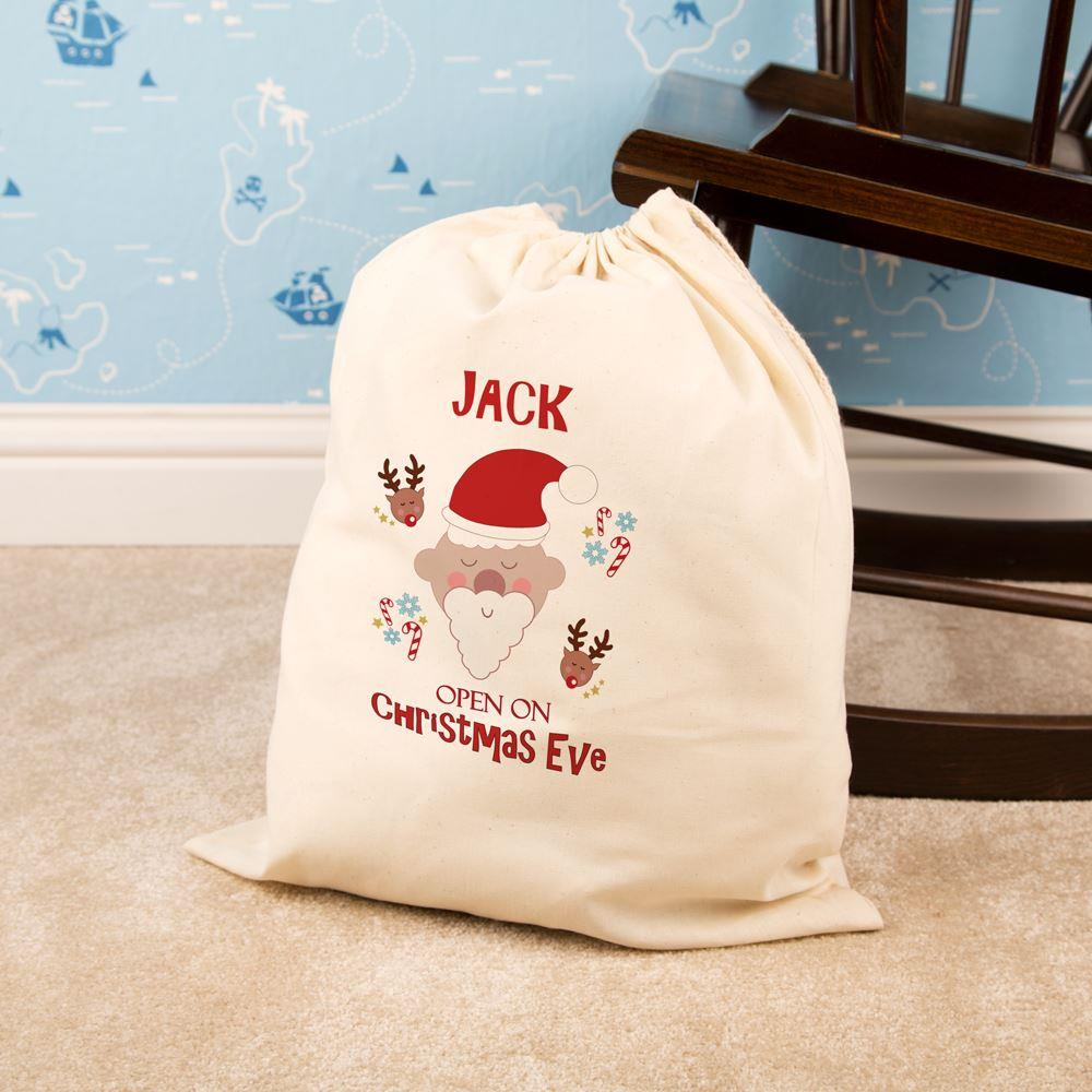 Personalised Christmas Eve Bag