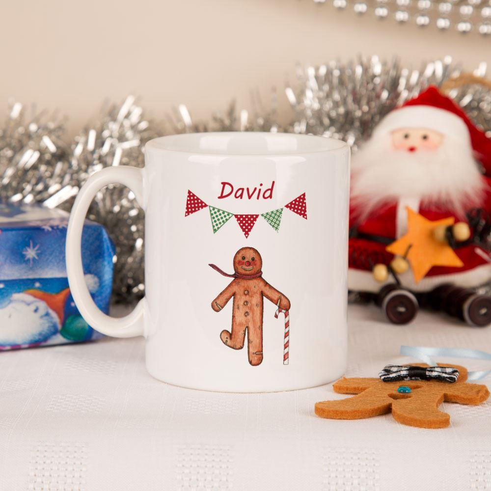 Personalised Gingerbread Man Mug