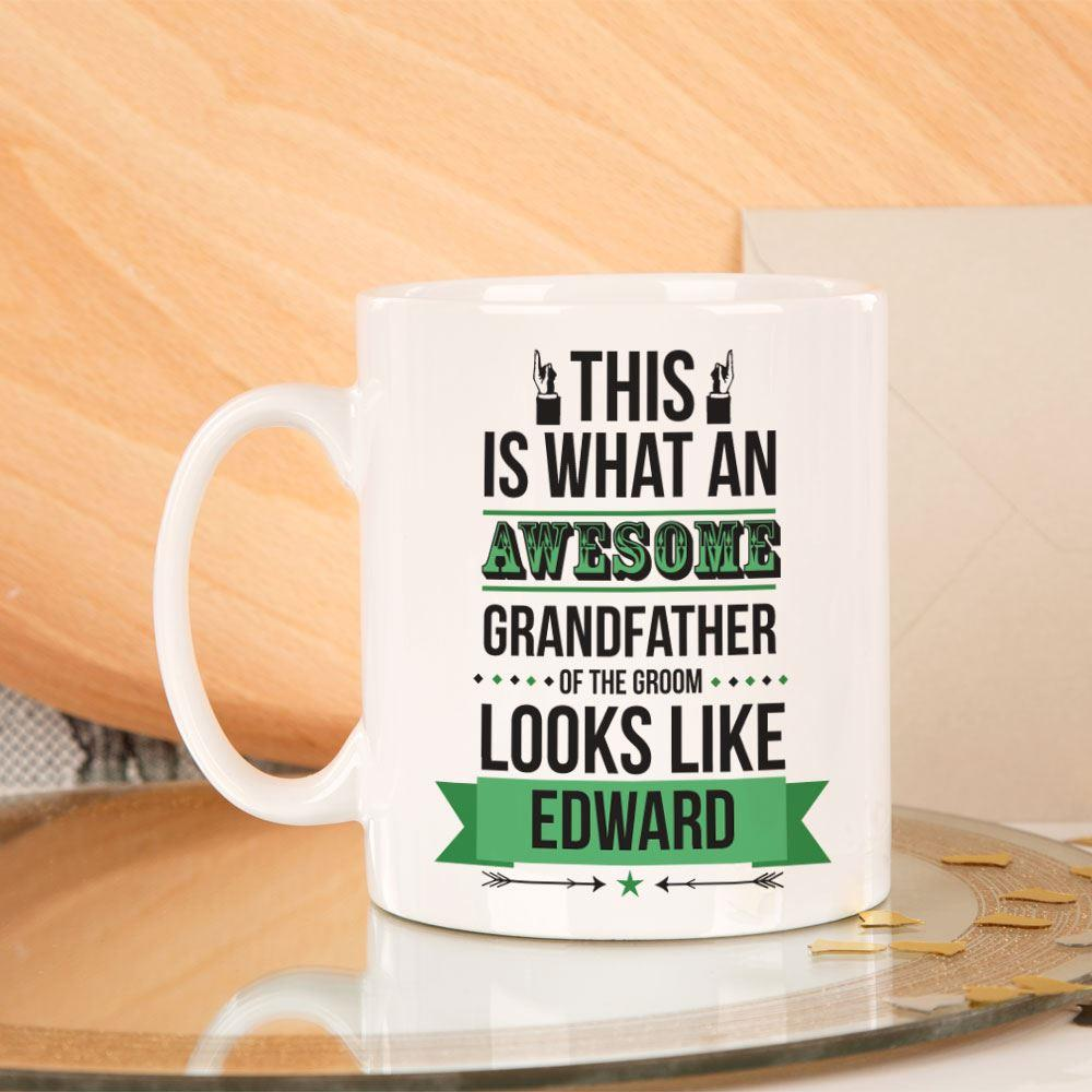 Personalised Awesome Grandfather of the Groom Mug