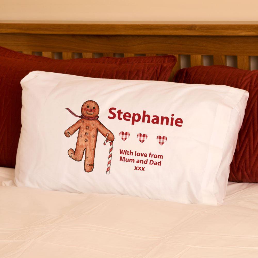 Personalised Gingerbread Man Pillowcase