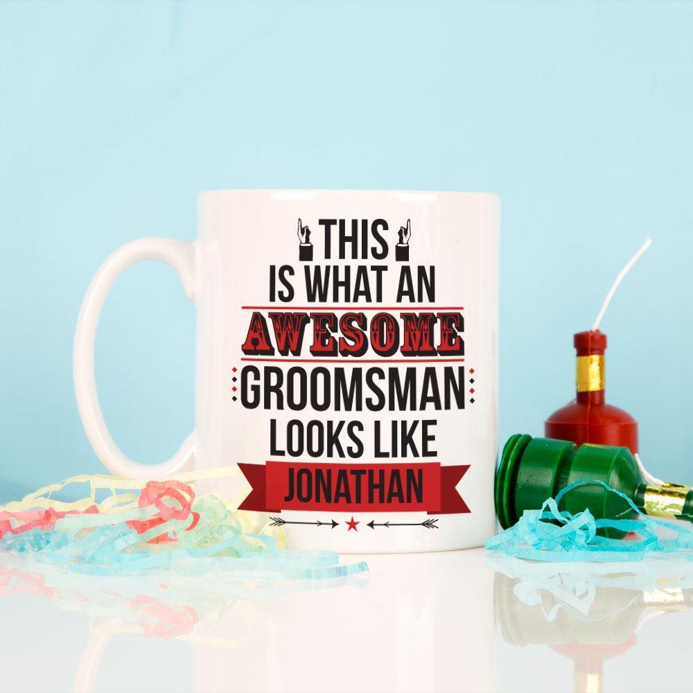 Personalised Awesome Groomsman Mug