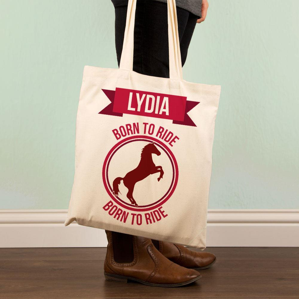 Customised Born to Ride Shopper Bag