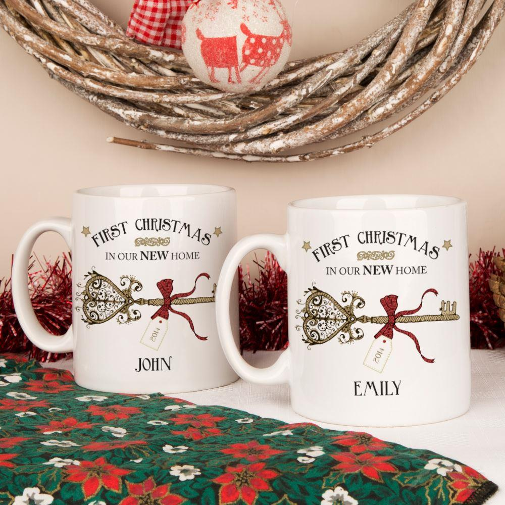 First Christmas In A New Home Mug Set
