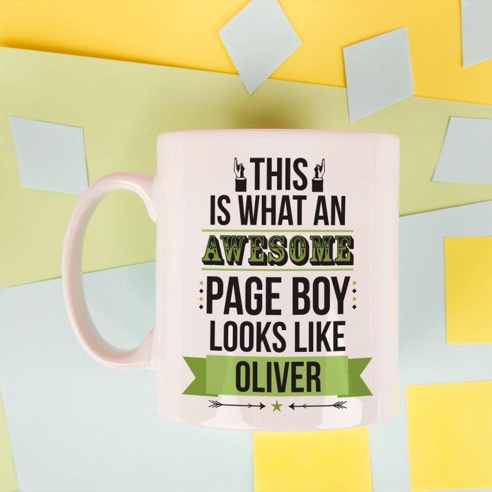 Personalised Awesome Page Boy Mug
