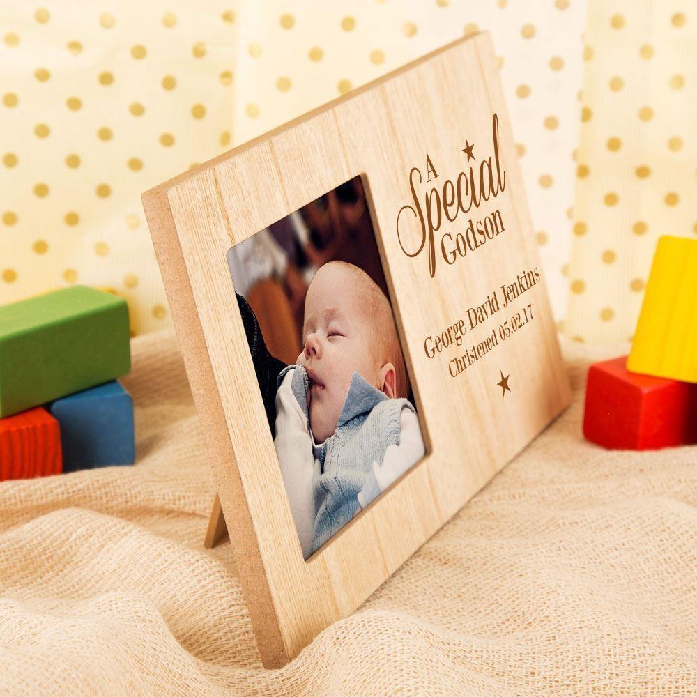 Godson Star Personalised Christening Frame | Forever Bespoke