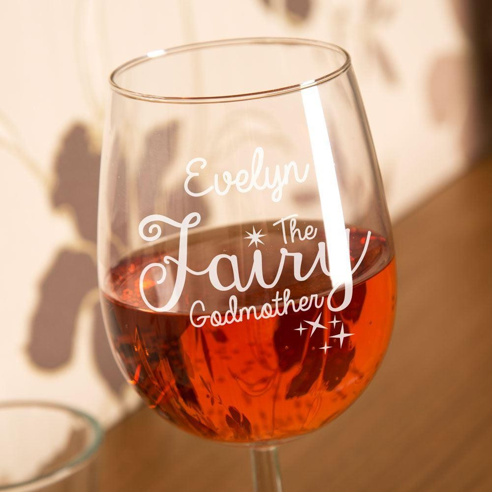 Bespoke Engraved Fairy Godmother Wine Glass