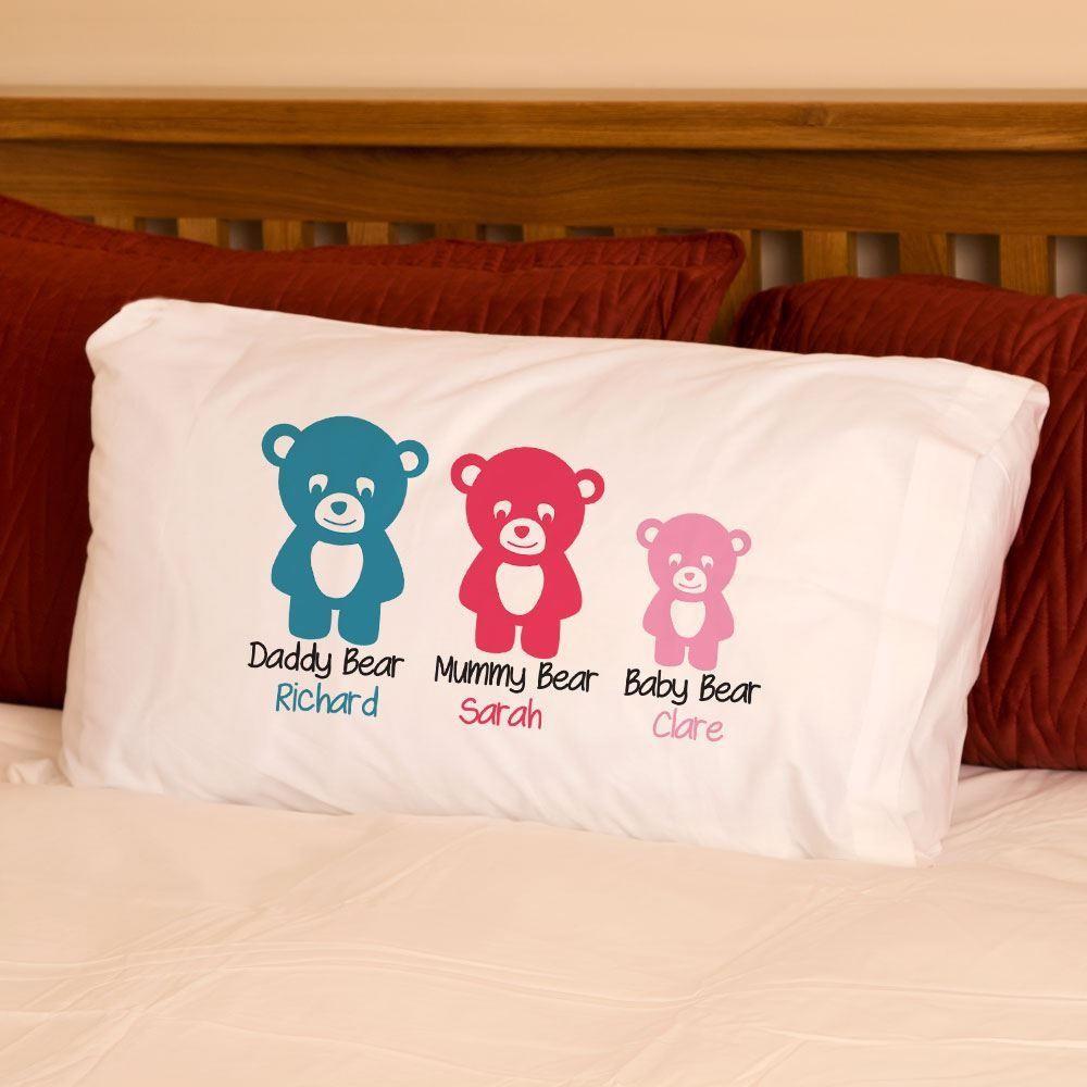 Daddy Bear Mummy Bear Baby Bear Pillowcase