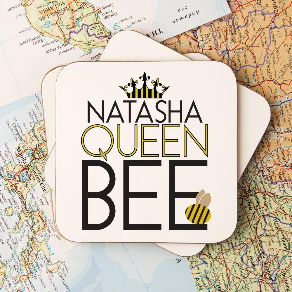 Customised Queen Bee Drinks Coaster