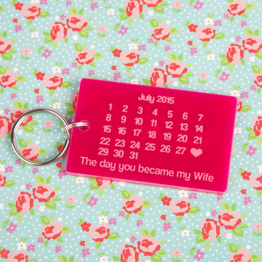 The Day You Became My Wife Keyring