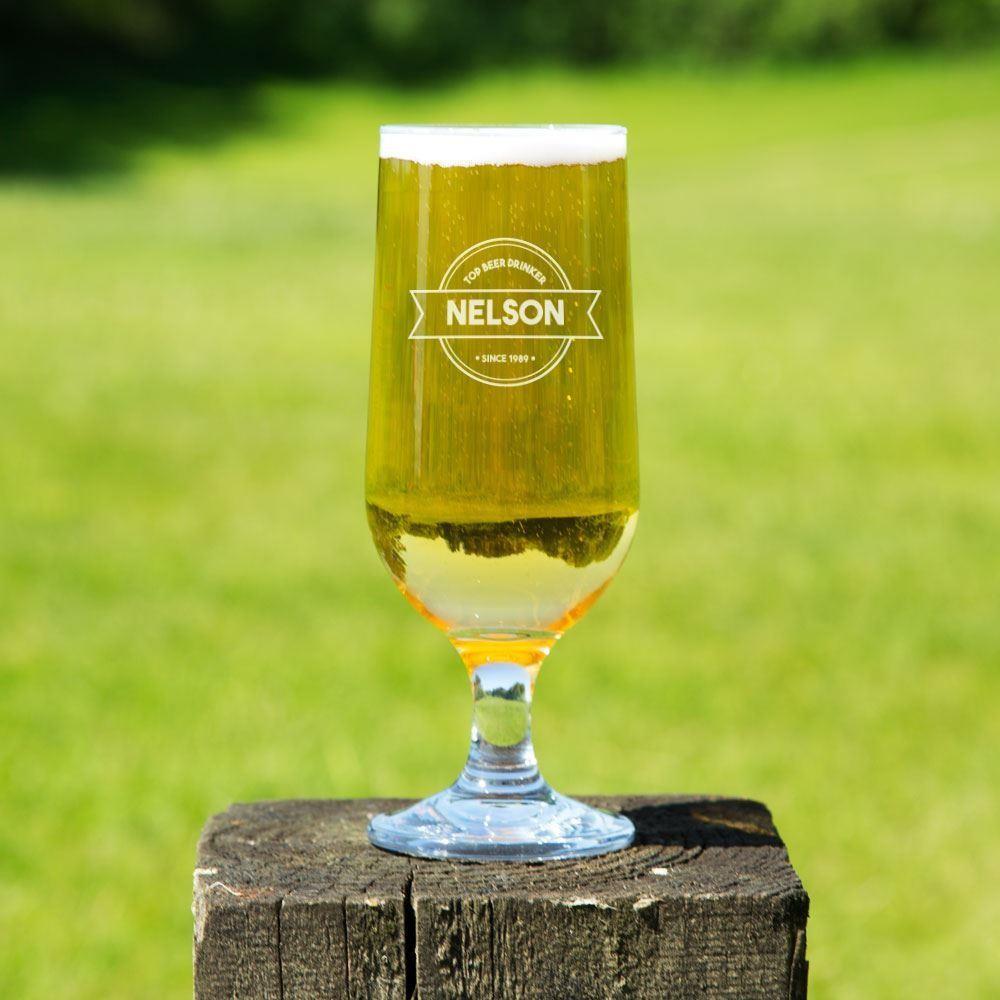 Custom Top Beer Drinker Beer Glass