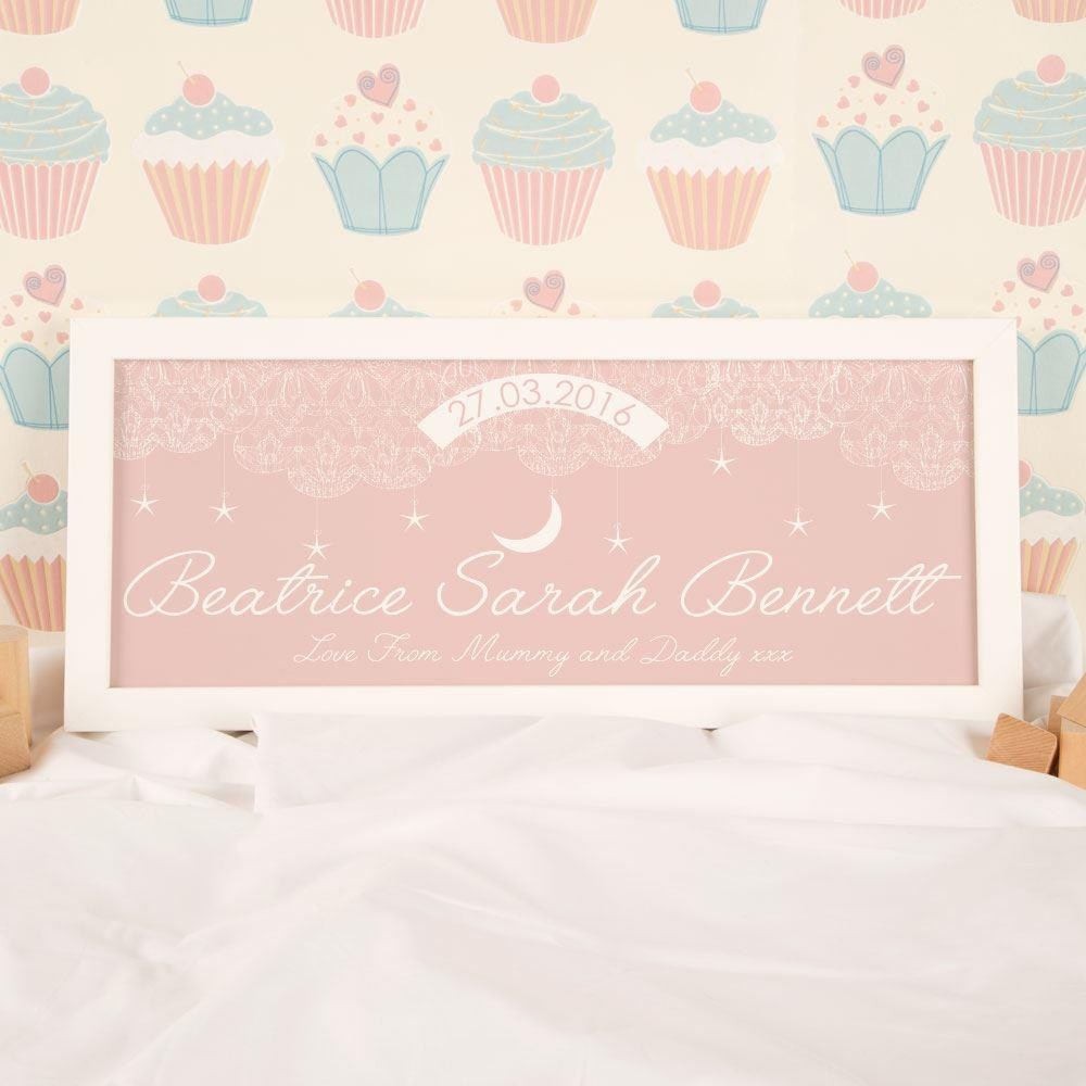 Baby Pink Starry Sky Name Frame