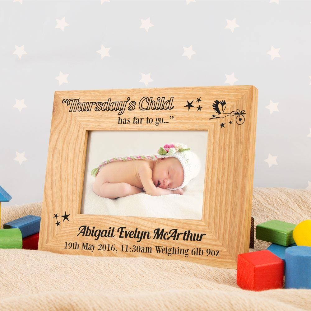 Personalised Thursdays Child Photo Frame
