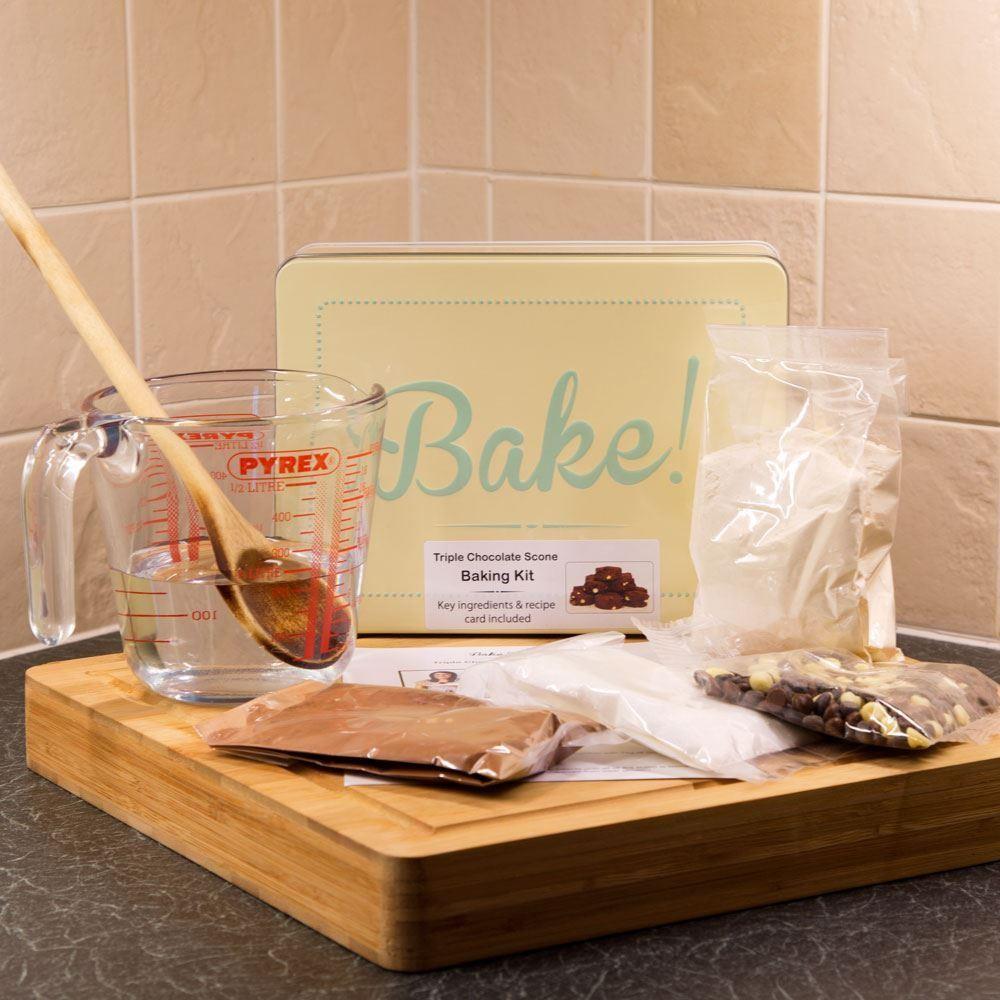 Triple Chocolate Scone Baking Set & Cake Tin