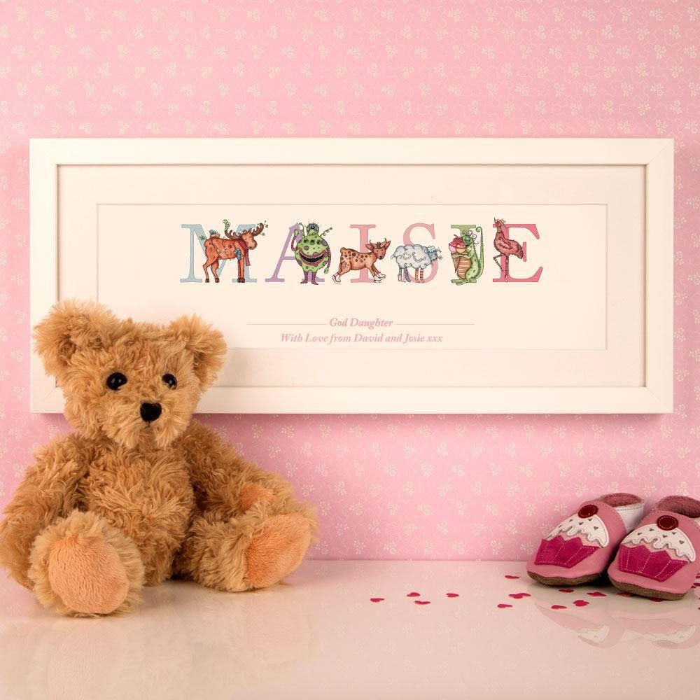 Personalised God Daughter Name Frame