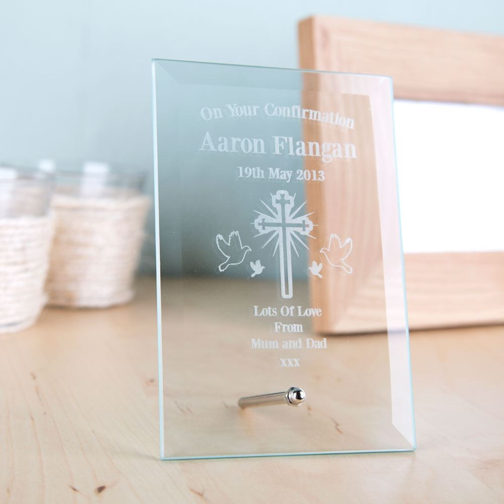 Bespoke Confirmation Glass Plaque