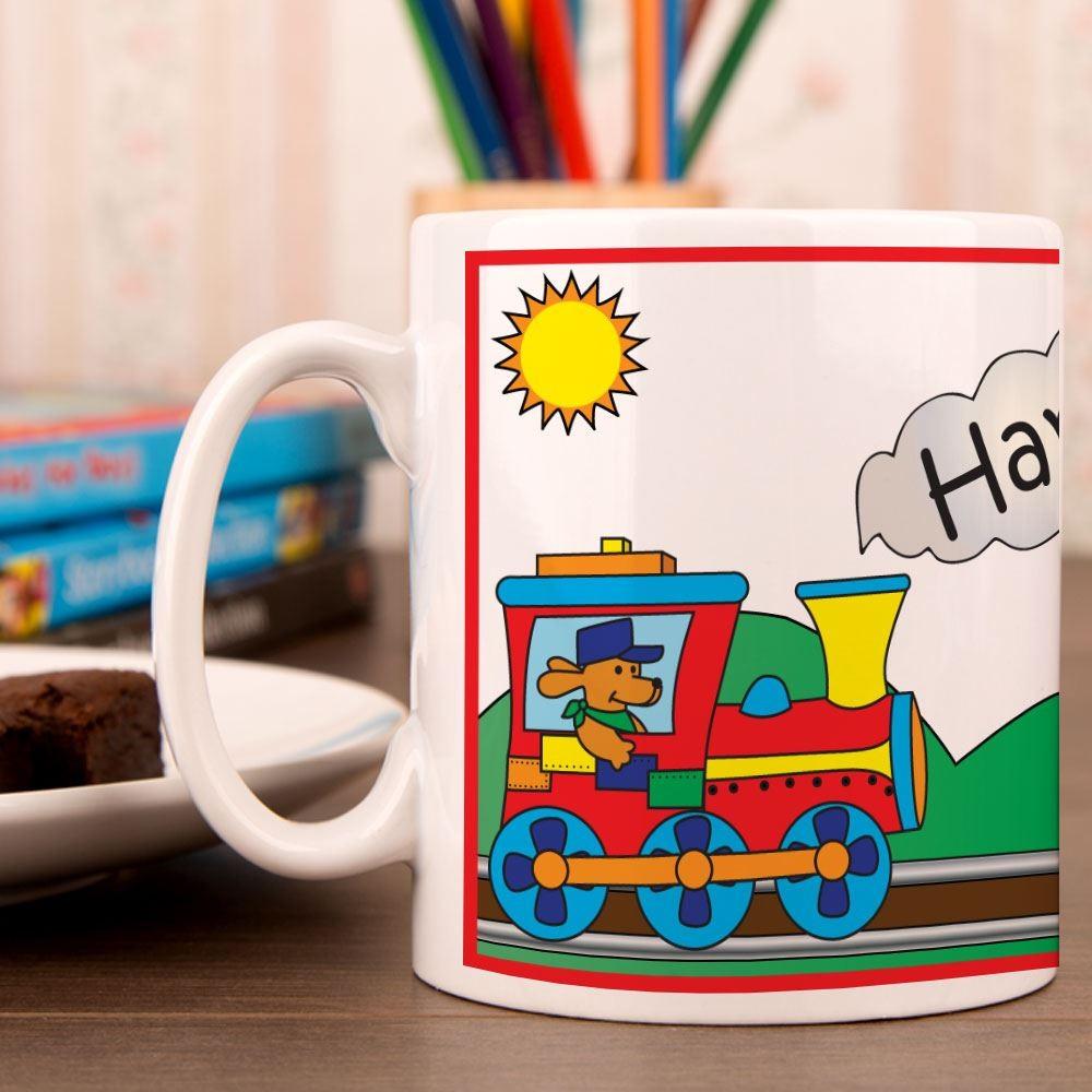 Red Steam Train Mug