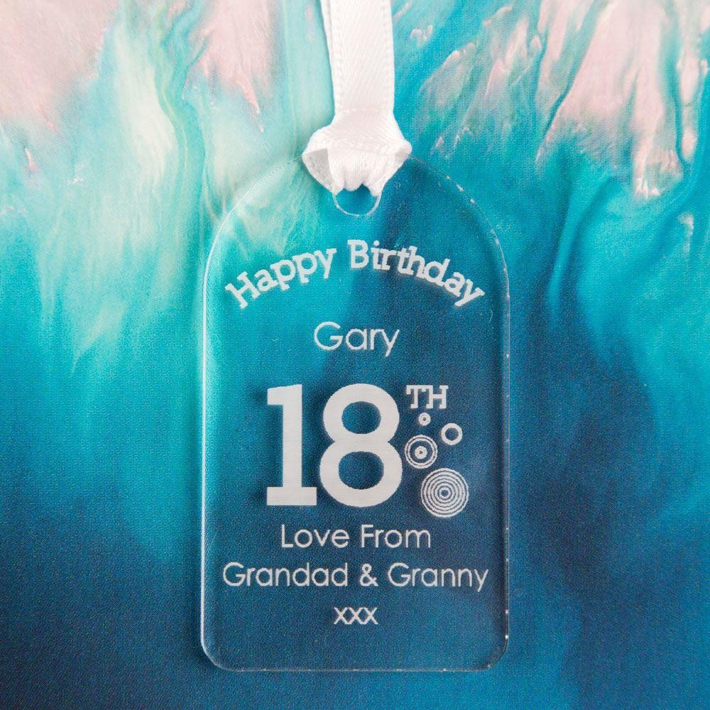 Personalised 18th Birthday Gift Tag: Circles