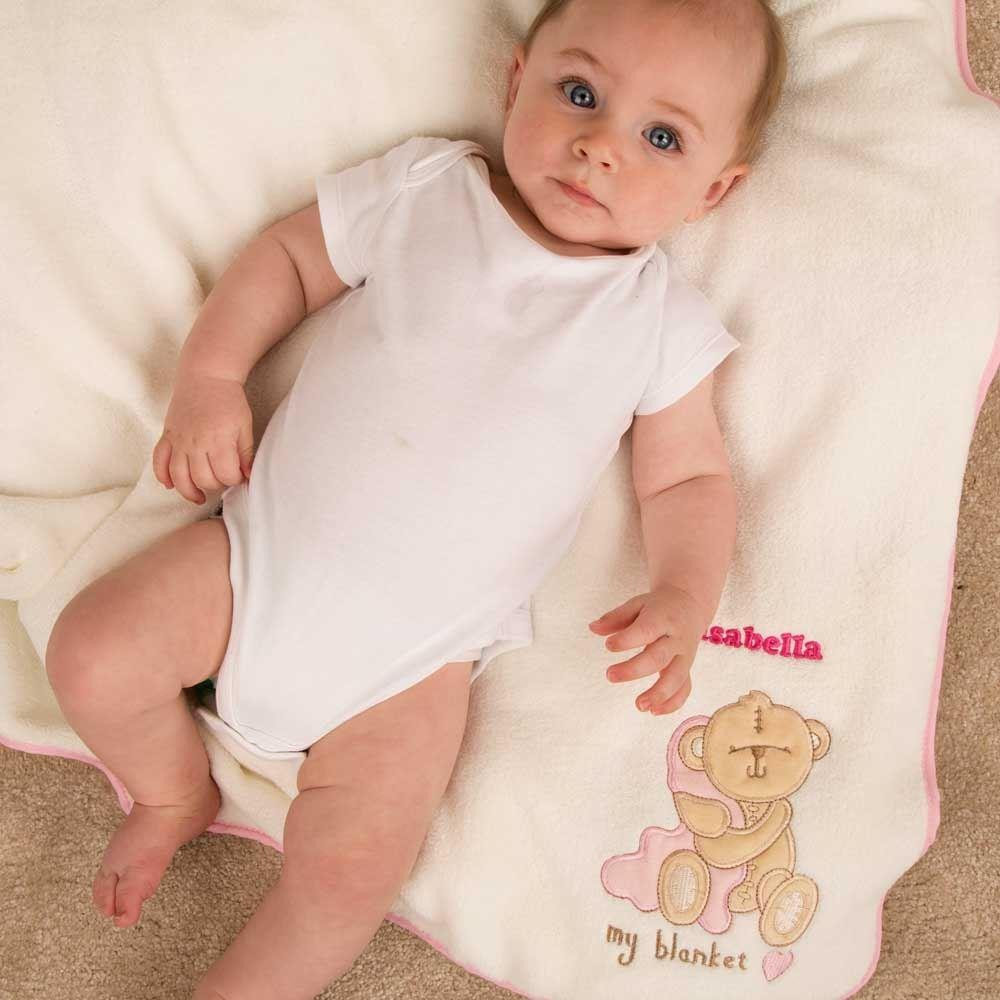Personalised Baby Blanket: Baby Girl