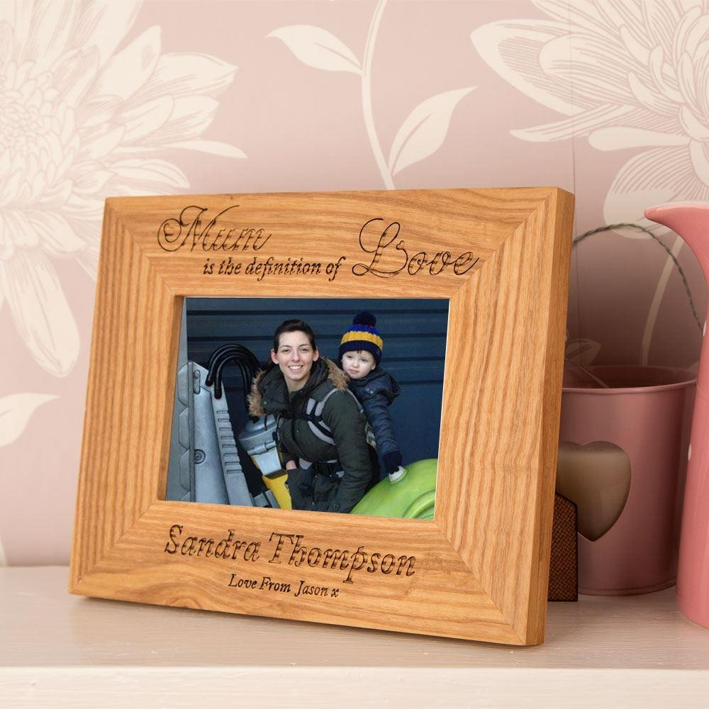 Mum Is The Definition Of Love Oak Frame