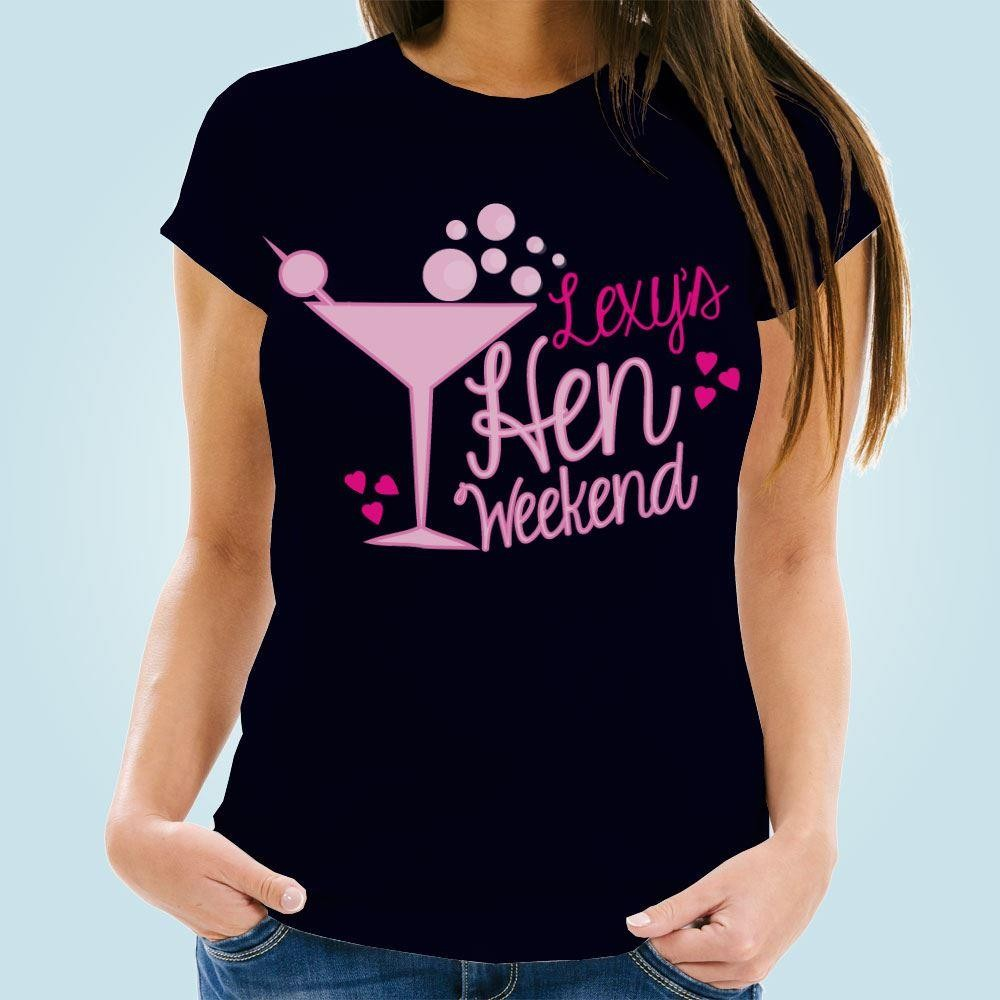 Hen Weekend Cocktail Navy T-Shirt