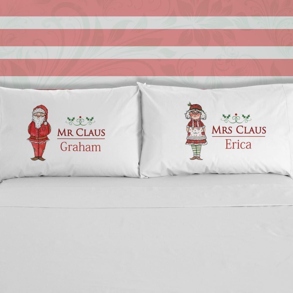 Mr & Mrs Claus Pillowcase Set