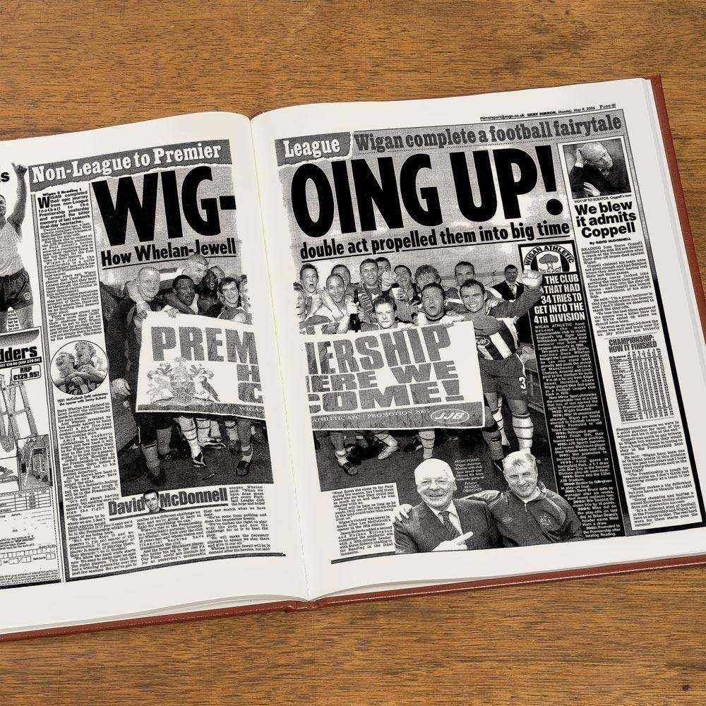 Custom Wigan Athletic Football Club Headline Book