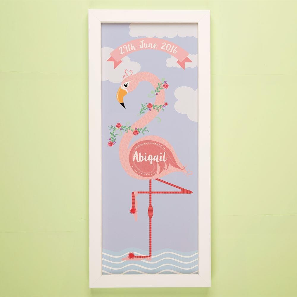 Customised Funky Flamingo Framed Print