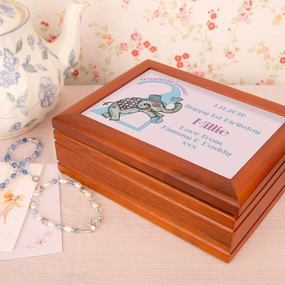 Elephant personalised Musical Jewellery Box