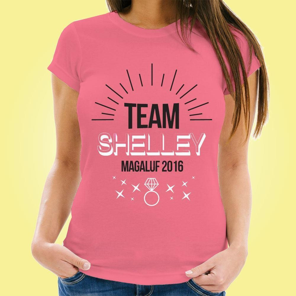 Personalised Hen Party T-Shirt: Team Bride!