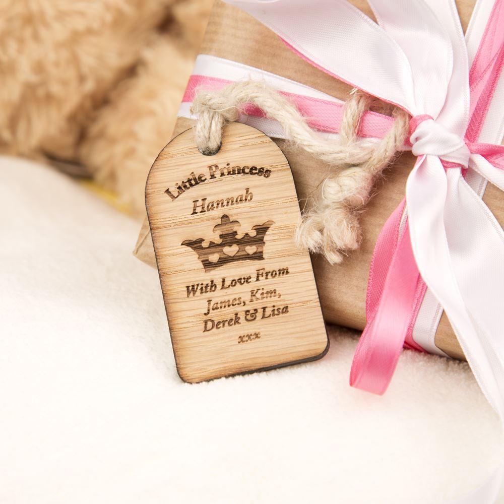 Princess Wooden Gift Tag