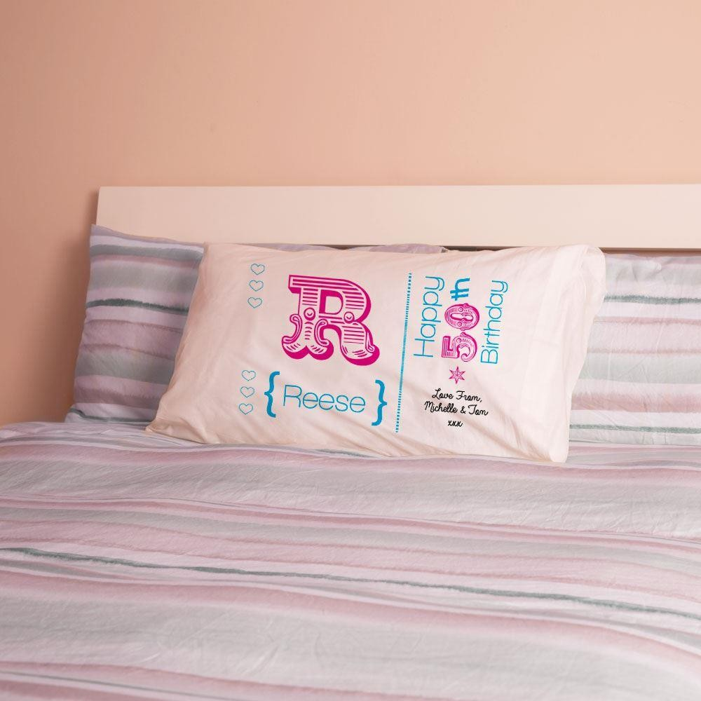 50th Initial Customised Pillowcase