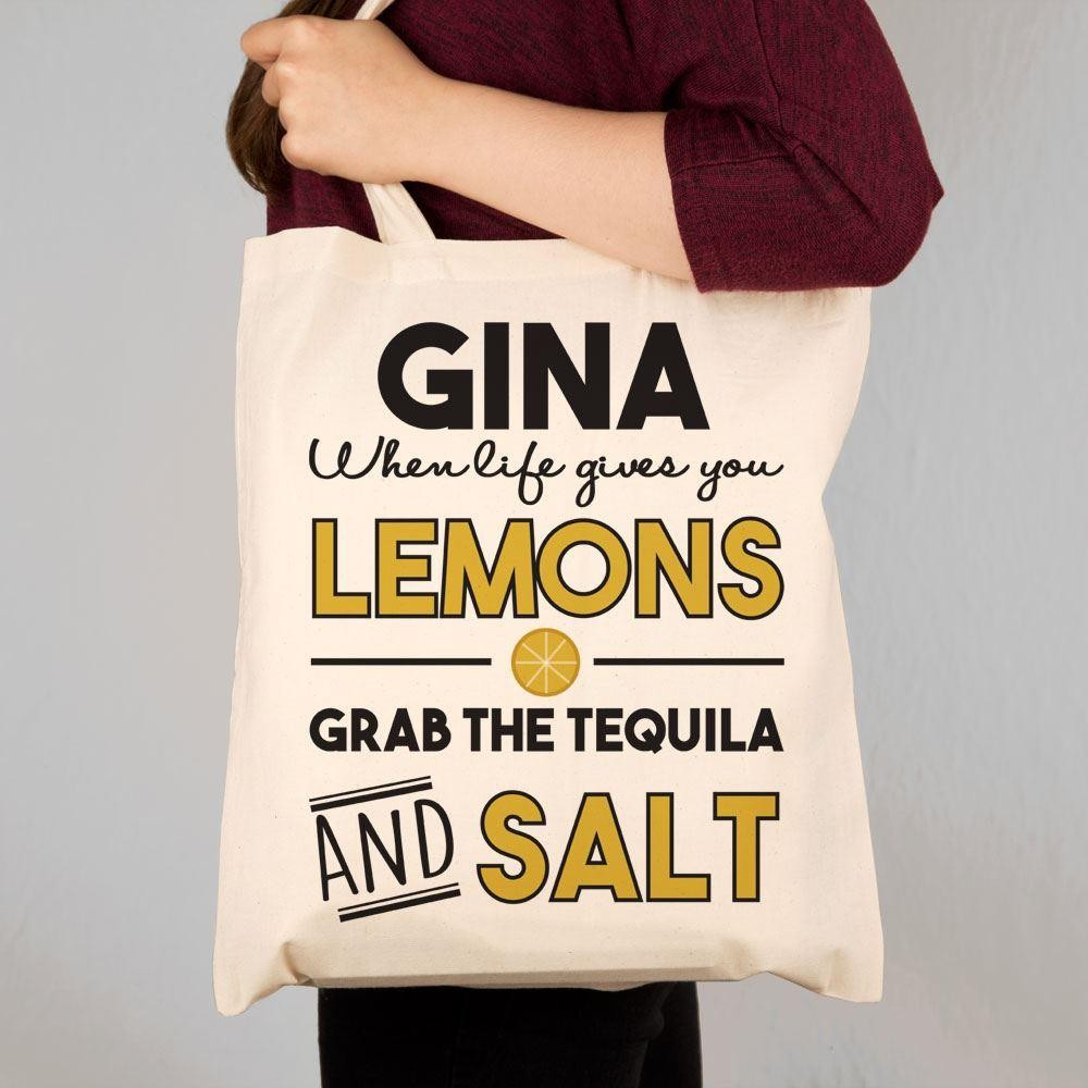 Personalised Tequila Quote Shoulder Bag Forever Bespoke