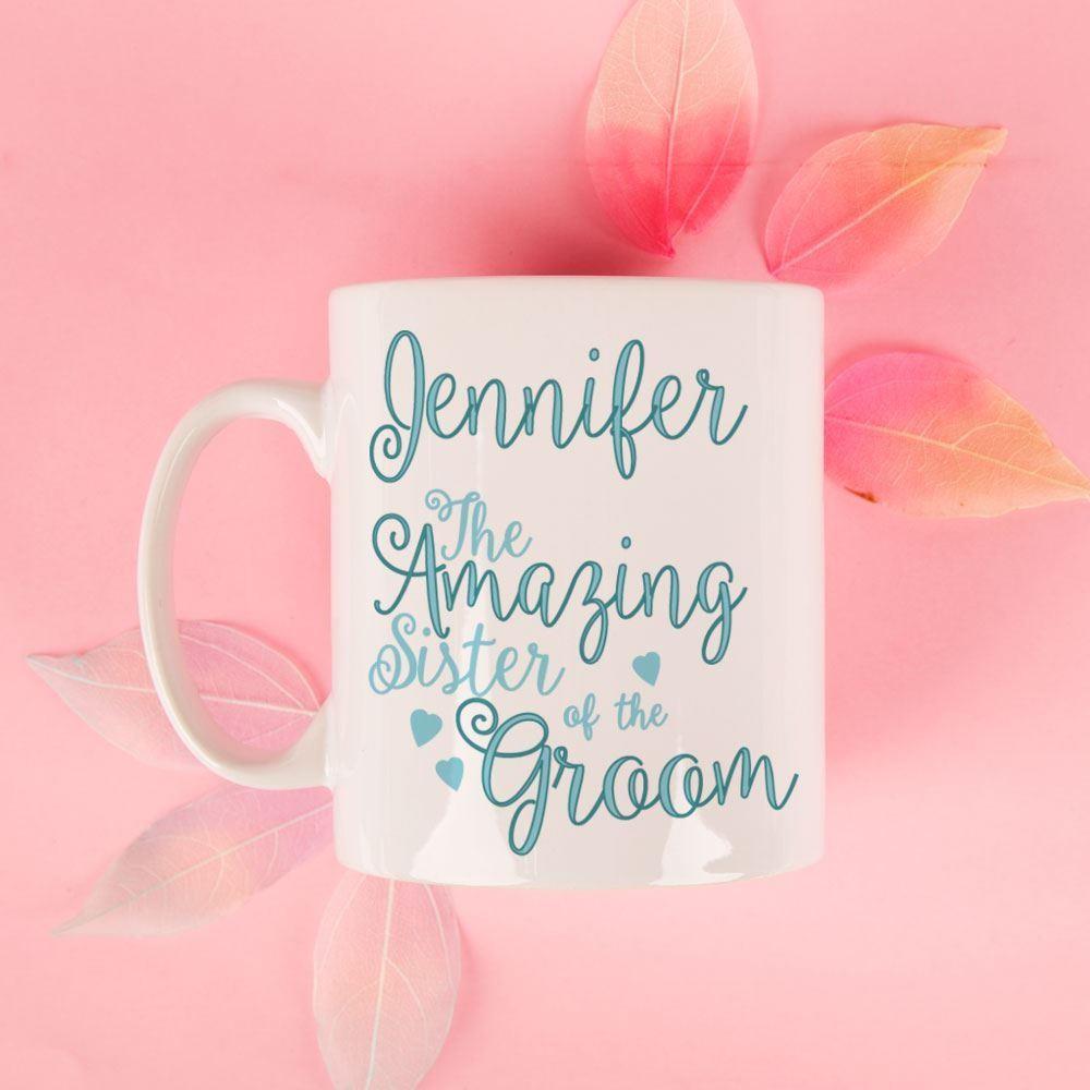 Personalised Amazing Sister of the Groom Mug
