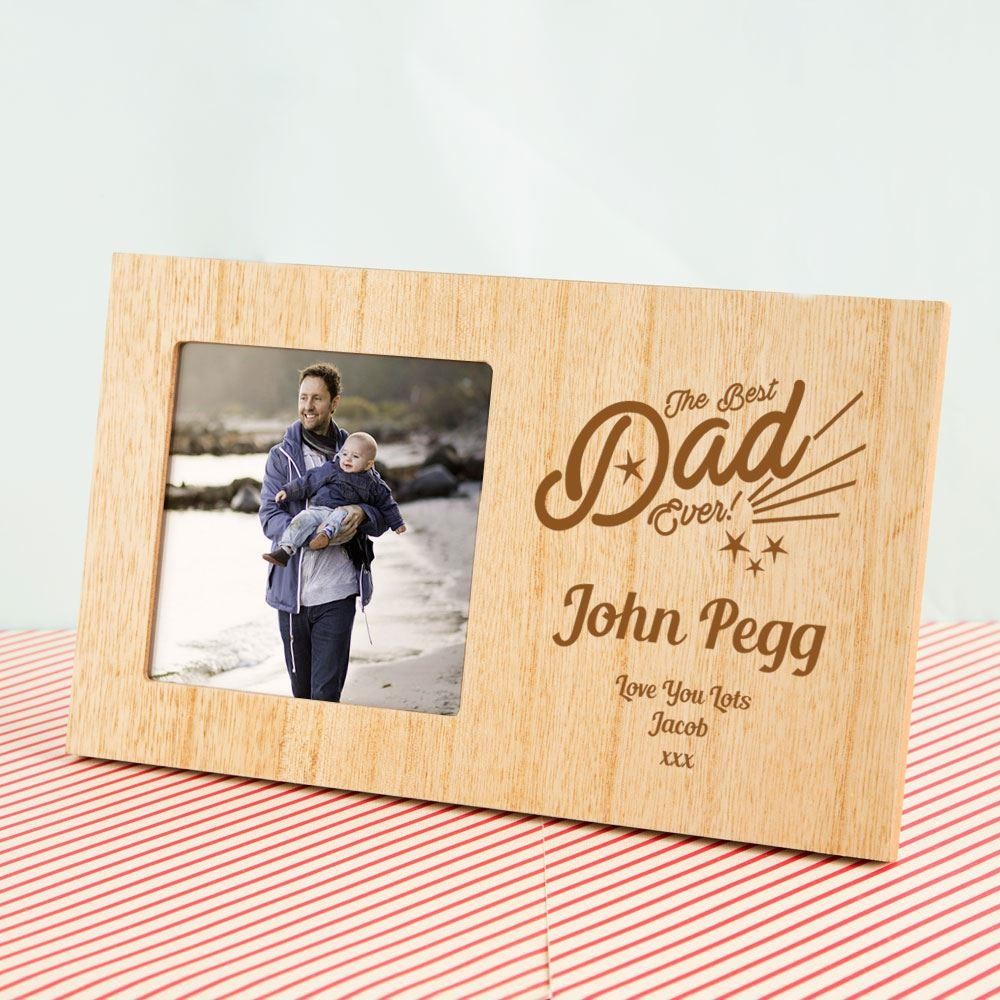 Personalised Best Dad Wooden Photo Frame