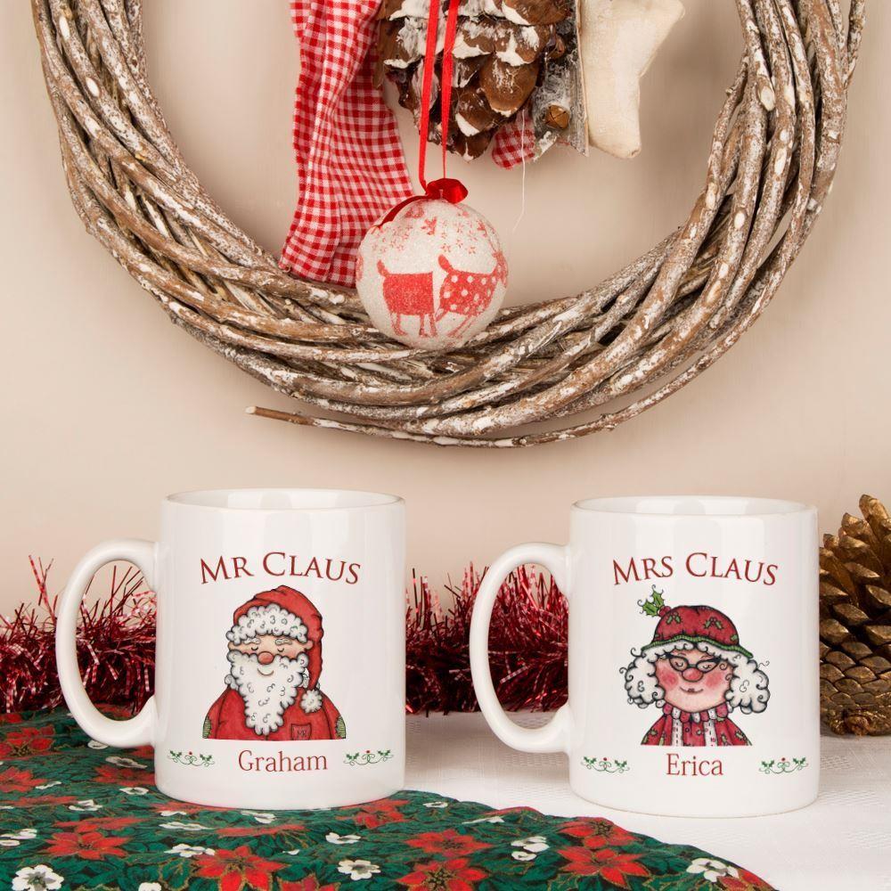 Mr & Mrs Claus Christmas Mugs