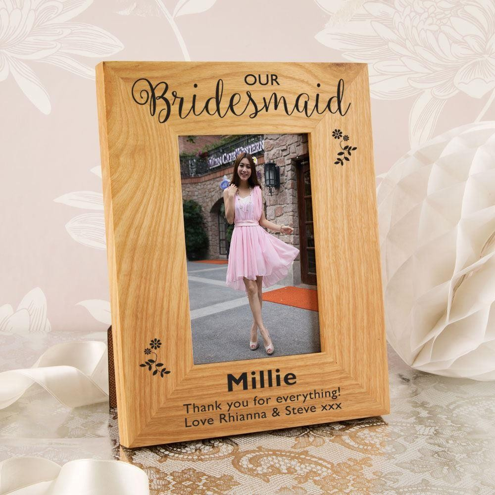 Bridesmaid Oak Photo Frame