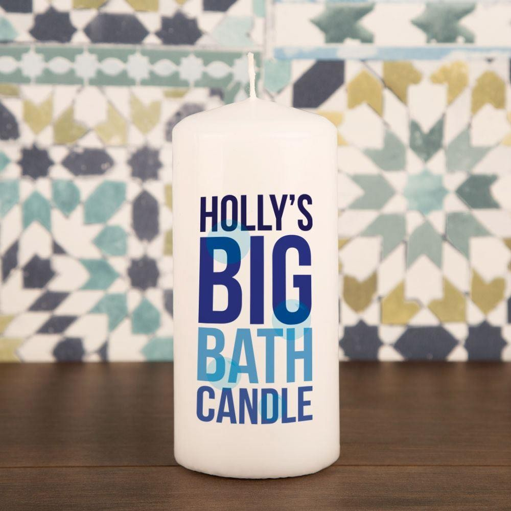 Quirky Customised Big Bath Pillar Candle