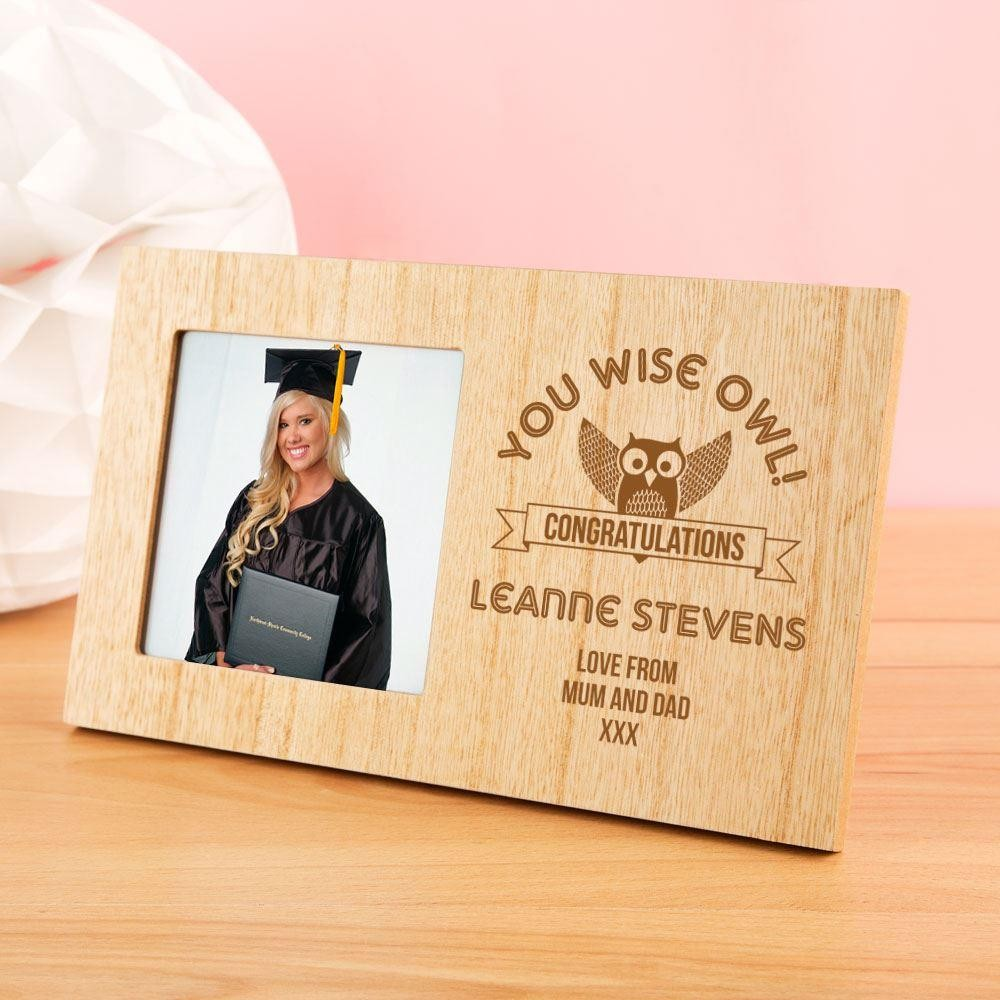 Personalised You Wise Owl Photo Frame
